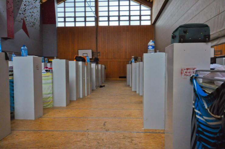Derzeit ist die Halle noch belegt. Doch nach Pfingsten sollen hier wieder der Sportunterricht stattfinden.