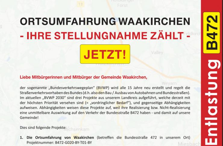 Der Flyer, der am Samstag in Waakirchen verteilt werden soll / Quelle: Bürgerbewegung Waakirchen