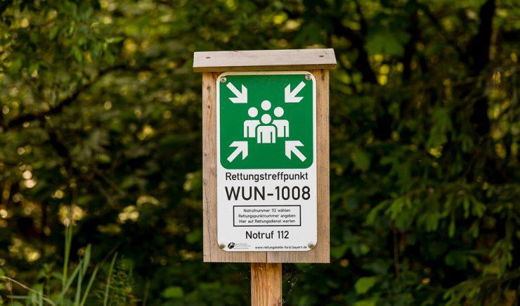 So sehen die Forstrettungspunkte aus / Quelle: Bayerische Staatsforsten