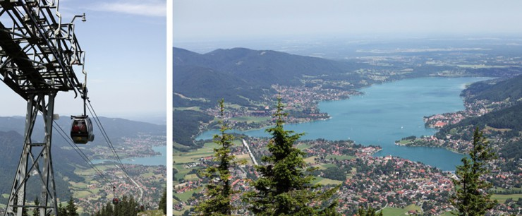 Wer im April dieses Panorama genießen will, muss zu Fuß auf den Wallberg. Doch die Gäste scheint dies nicht groß zu stören.