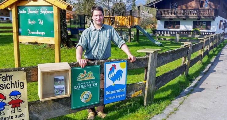 Der Rottacher Landwirt Stefan Berghammer setzt auf seine Biomilch.