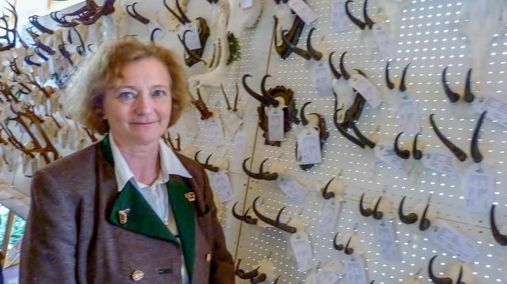 Dr. Christine Miller auf der Hegeschau in Miesbach.