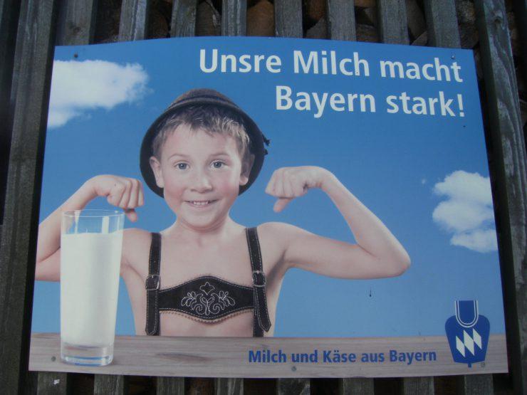 Zumindest Bergbauern-Milch hat noch ihren Preis.