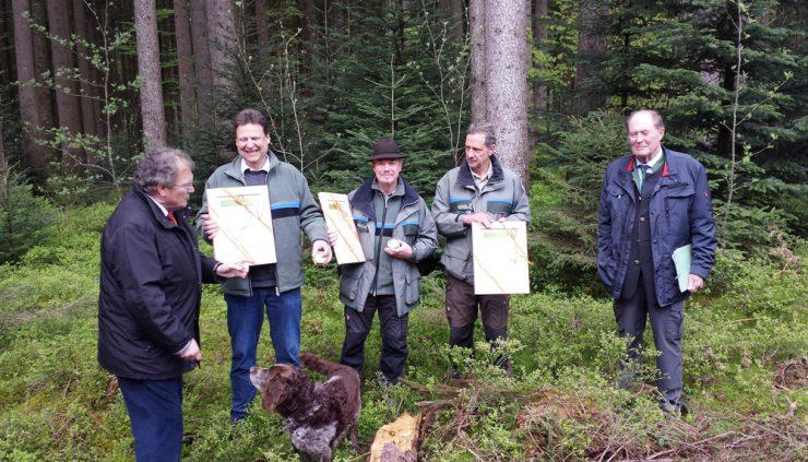 Heute wurde drei Privatwaldförstern die Karl-Geyar-Medaille verliehen