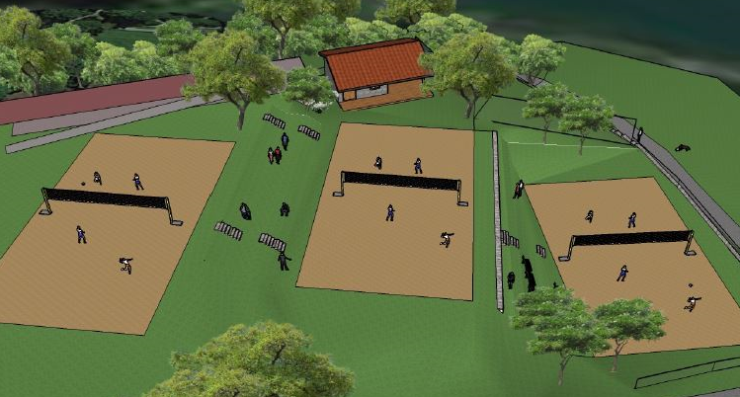 Ein dritter Platz und eine neue Hütte in der Mitte sind geplant