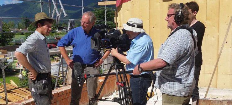 Der BR kam gestern an den Tegernsee, um den Aufbau des neuen Zotzn zu dokumentieren