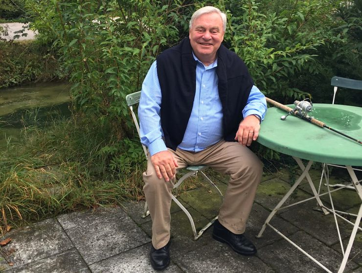 E-Werk-Chef Dr. Norbert Kruschwitz beim Angeln.