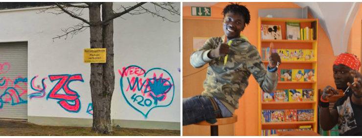 Graffiti schlimmer als Flüchtlinge