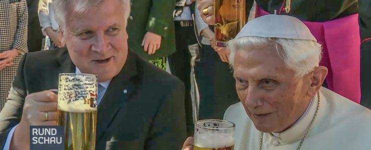 Mit Bier und Brezn zum Papst