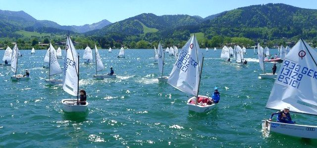 100 segelnde Kinder auf dem Tegernsee