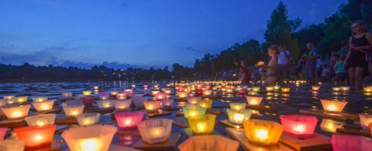 Der Tegernsee im Licht von 1000 Kerzen