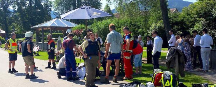 Rettungseinsatz an Wiesseer Seepromenade