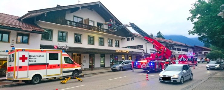 Rottacherin aus dem zweiten Stock gerettet