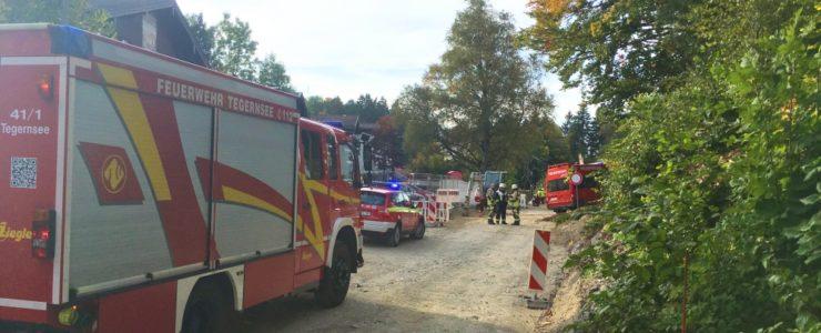 Bauarbeiter beschädigt Gasleitung