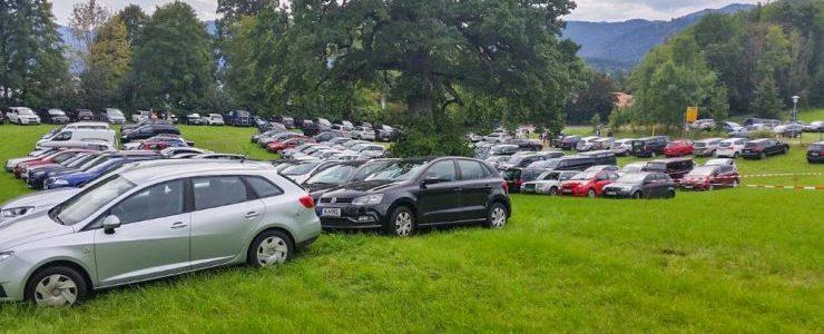 Wiese wieder zugeparkt