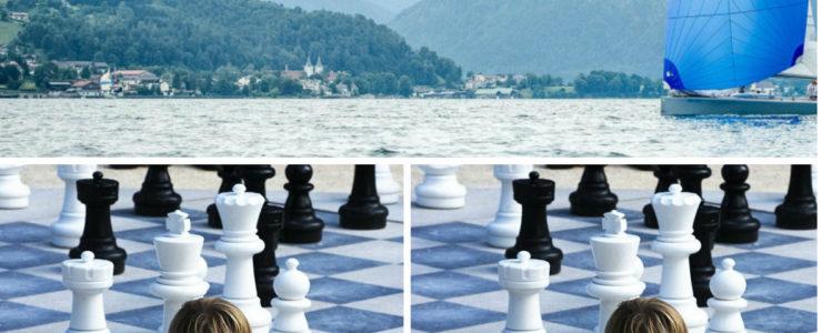 Schach mit Blick über den See