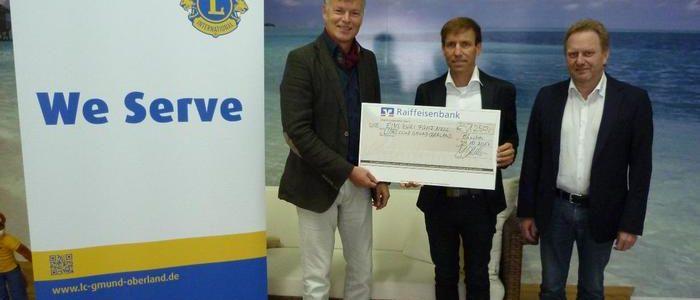 Firma Aquacomet spendet für Adventskalender der Gmunder Lions